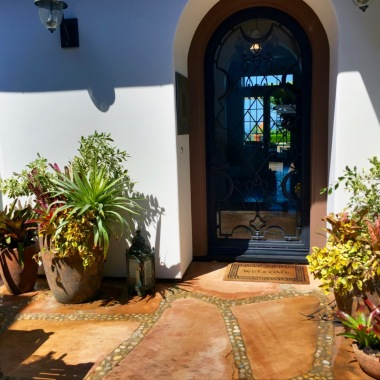 Courtyard exit